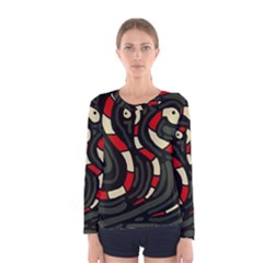 Red snakes Women s Long Sleeve Tee