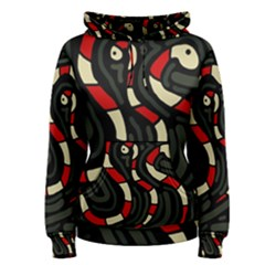 Red snakes Women s Pullover Hoodie
