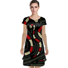 Red snakes Cap Sleeve Nightdress