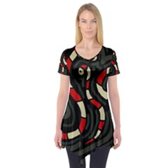 Red snakes Short Sleeve Tunic