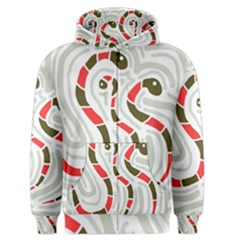 Snakes family Men s Zipper Hoodie