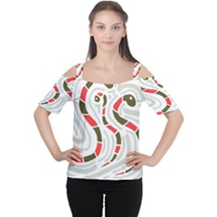 Snakes family Women s Cutout Shoulder Tee