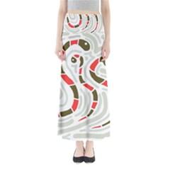 Snakes Family Maxi Skirts