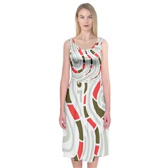 Snakes family Midi Sleeveless Dress