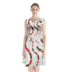 Snakes Family Sleeveless Chiffon Waist Tie Dress