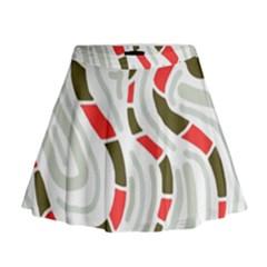 Snakes family Mini Flare Skirt