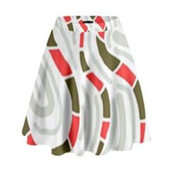 Snakes family High Waist Skirt