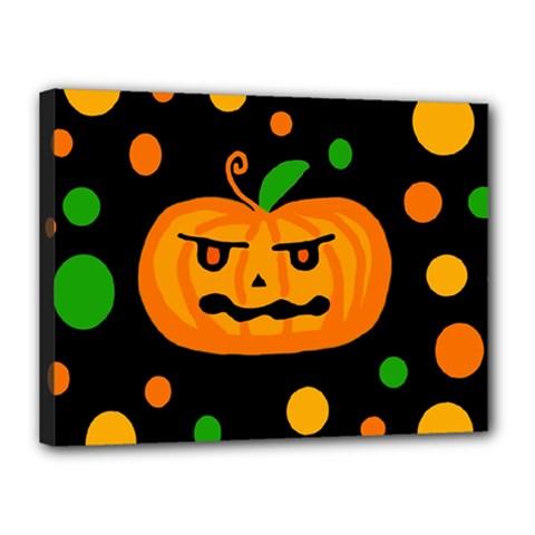 Halloween pumpkin Canvas 16  x 12