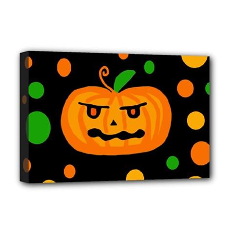 Halloween pumpkin Deluxe Canvas 18  x 12