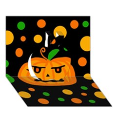 Halloween pumpkin Apple 3D Greeting Card (7x5)