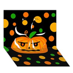 Halloween pumpkin Clover 3D Greeting Card (7x5)