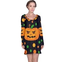 Halloween pumpkin Long Sleeve Nightdress