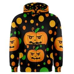 Halloween pumpkin Men s Zipper Hoodie