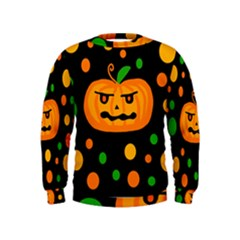 Halloween pumpkin Kids  Sweatshirt
