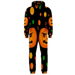 Halloween pumpkin Hooded Jumpsuit (Men)