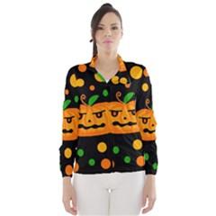 Halloween pumpkin Wind Breaker (Women)