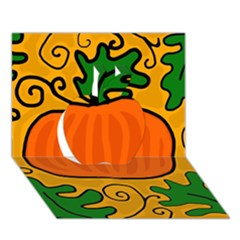 Thanksgiving Pumpkin Apple 3d Greeting Card (7x5)