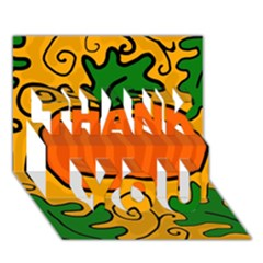Thanksgiving pumpkin THANK YOU 3D Greeting Card (7x5)