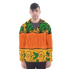 Thanksgiving pumpkin Hooded Wind Breaker (Men)