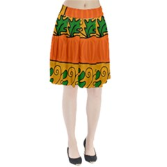 Thanksgiving pumpkin Pleated Skirt