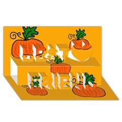 Thanksgiving pumpkins pattern Best Friends 3D Greeting Card (8x4)
