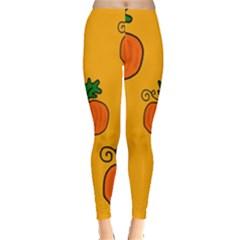 Thanksgiving pumpkins pattern Leggings