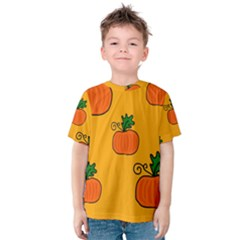 Thanksgiving pumpkins pattern Kid s Cotton Tee