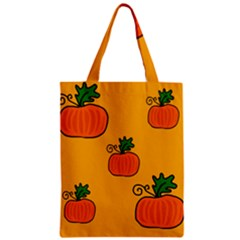 Thanksgiving pumpkins pattern Zipper Classic Tote Bag