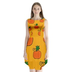 Thanksgiving pumpkins pattern Sleeveless Chiffon Dress