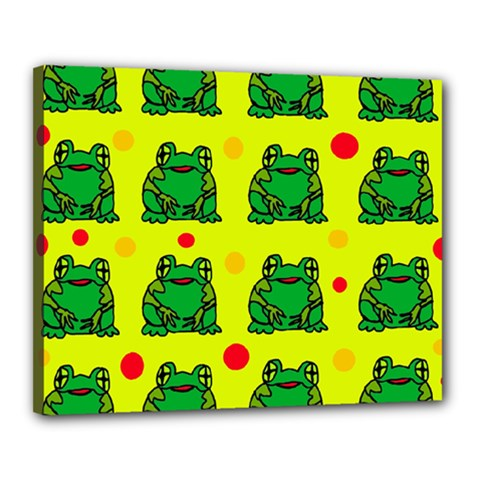 Green frogs Canvas 20  x 16