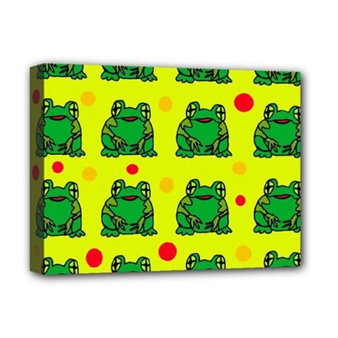Green frogs Deluxe Canvas 16  x 12