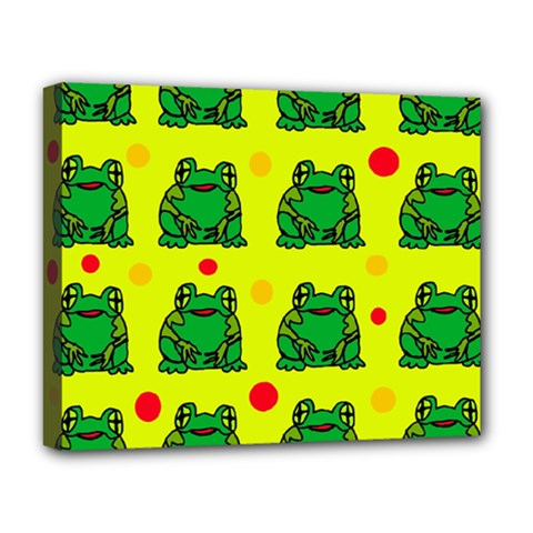 Green frogs Deluxe Canvas 20  x 16