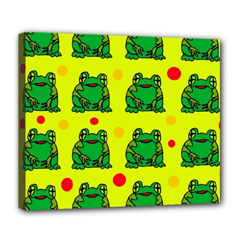Green frogs Deluxe Canvas 24  x 20