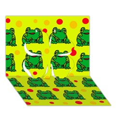 Green frogs Clover 3D Greeting Card (7x5)
