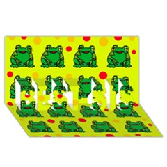 Green frogs BEST SIS 3D Greeting Card (8x4)