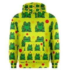 Green frogs Men s Pullover Hoodie