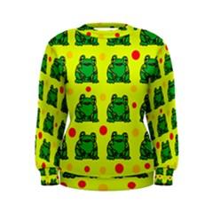 Green frogs Women s Sweatshirt