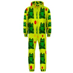 Green frogs Hooded Jumpsuit (Men)