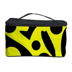 Black and Yellow abstract desing Cosmetic Storage Case