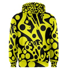 Black and Yellow abstract desing Men s Pullover Hoodie