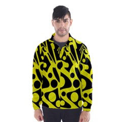 Black and Yellow abstract desing Wind Breaker (Men)