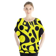 Black and Yellow abstract desing Blouse