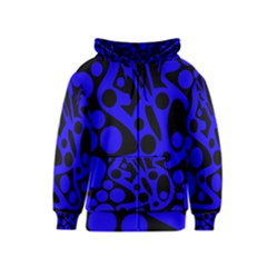 Blue and black abstract decor Kids  Zipper Hoodie