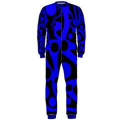 Blue and black abstract decor OnePiece Jumpsuit (Men)