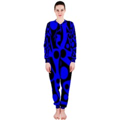 Blue and black abstract decor OnePiece Jumpsuit (Ladies)