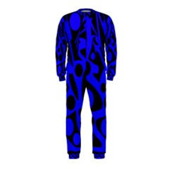 Blue and black abstract decor OnePiece Jumpsuit (Kids)