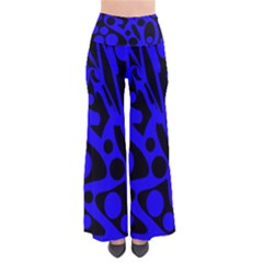 Blue and black abstract decor Pants