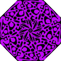 Purple and black abstract decor Hook Handle Umbrellas (Large)