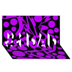 Purple And Black Abstract Decor #1 Dad 3d Greeting Card (8x4)