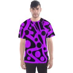Purple and black abstract decor Men s Sport Mesh Tee